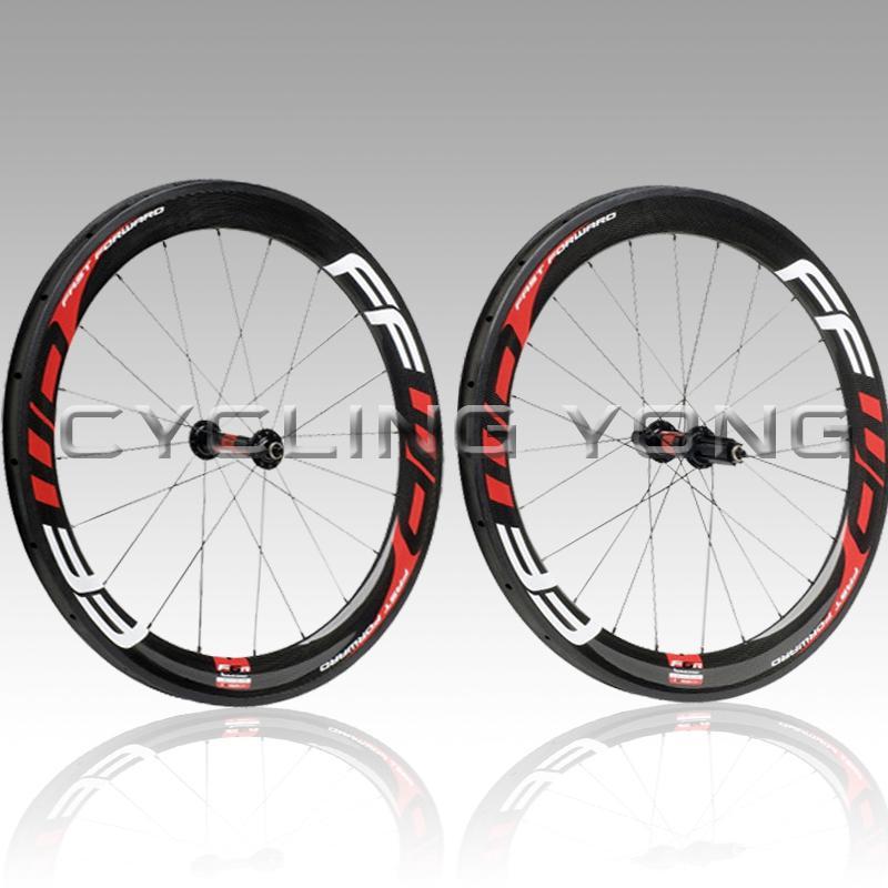 42888abd376 FFWD F6R 50mm clincher bicycle wheels 700c carbon fiber road bike racing  wheelset C-50 clincher free shipping
