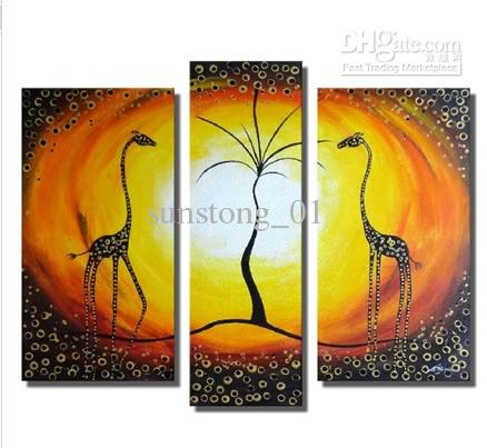 2017 Animals Group Oil Painting Abstract Animal Group Canvas ...