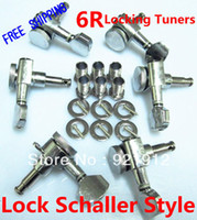 Wholesale Guitar Locking Tuning Pegs - Free Shipping NEW Locking Tuners 6R Chrome Guitar Tuning Pegs Tuners Machine Heads with Lock Schaller Style