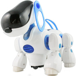 Wholesale Toy Robot Dog Kids - Transpace electric toy robot electronic dog pet toy gift Finger Toys