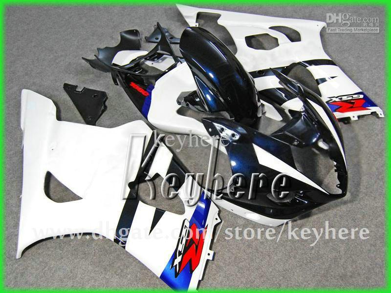 GRATIS 7 regali Kit di carenatura su misura Suzuki GSXR 1000 2003 2004 GSX R1000 03 04 K3 carenze G1H Blu Bianco Bianco Black Motorcycle Body Work