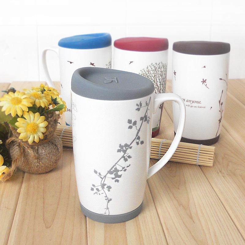2019 New Arrival Handle Large Mug With Lid Ceramic Cups