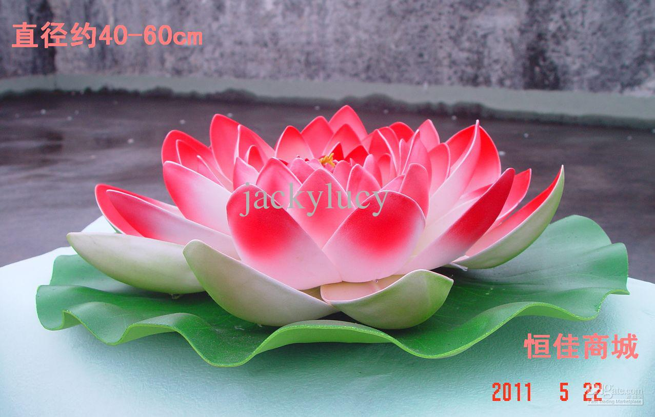 2019 60 Cm Diameter Big Size Artificial Simulation Lotus Flower For Wedding Decoration Home Decor Pink Red Purple Orange White Color From Corportion