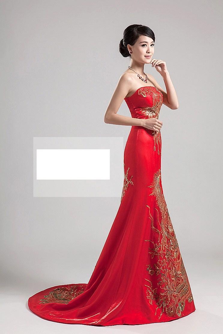 Evening bridal dresses