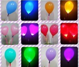 decorazione flash Sconti 50pcs / lot festival Deco LED lampeggiante luci a palloncino, decorazioni di nozze del partito palloncino giocattoli