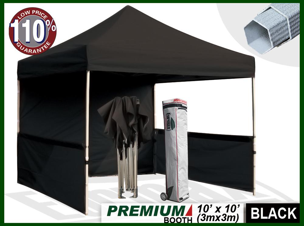 Premium 10x10 Instant Canopy Craft Display Trade Show Tent Portable Booth Market Stall -black & 2018 Premium 10x10 Instant Canopy Craft Display Trade Show Tent ...