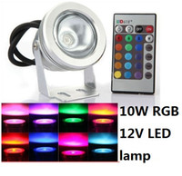 Coloré 10W sous-marin imperméable RGB LED Flood Wash Lights Lampe sécurisée 12V Outdoor 180 Angle High Power Nouveau
