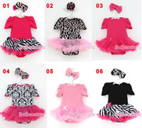 Wholesale Bowknot One Piece Romper - Baby One Piece Romper Jumpsuit And Rompers With Bowknot Headbands Infant Wear Girls Climb Clothes Newborn Romper Fashion One Piece Clothing