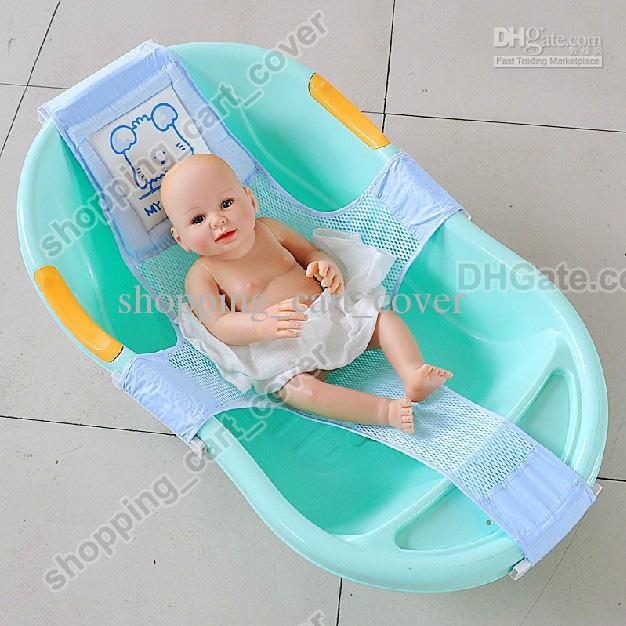 Newest Adjustable Baby Kid Toddler Infant Newborn Safety Safe Security Shower  Bath Seat Tub Bathtub Support Net Cradle Bed Online With $15.09/Piece On ...