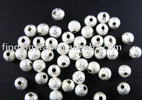 Wholesale 8mm Stardust Beads - 1000PCS Silver plate stardust spacer beads 8mm M13