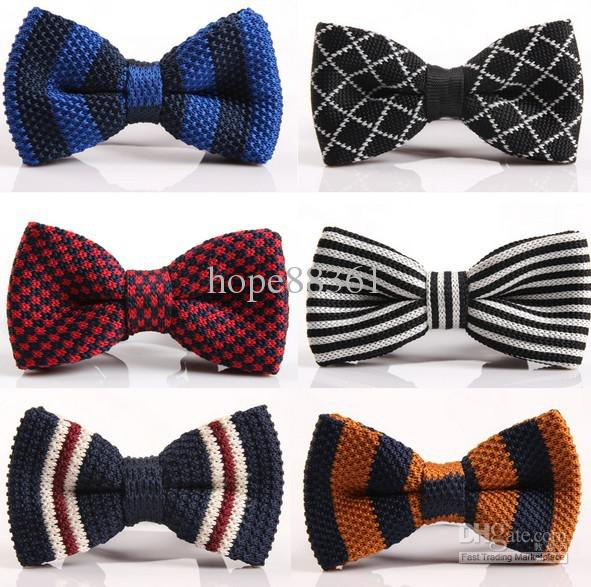 New Arrive Hotmen Neck Knitted Bowtie Bow Tie Pre Tied Adjustable