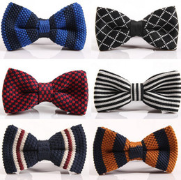 Wholesale Pre Tied Bows Wholesale - New Arrive HOT!Men Neck Knitted Bowtie Bow Tie 75 Color Pre-Tied Adjustable Tuxedo Bowtie Free Shipping 50pcs lot