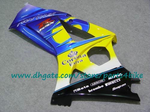 Venta caliente amarillo / azul SUZUKI GSX R1000 carenado 07 08 GSXR 1000 ABS carrocería de plástico de alto grado establece GSX-R1000 2008 K7 2007 con 7 regalos