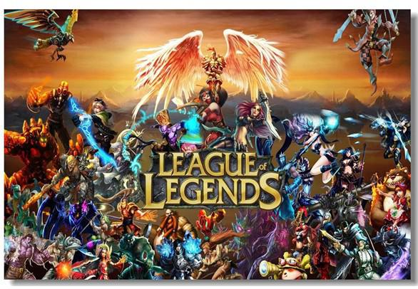 2018 League Of Legends Lol Game Silk Poster Wall Poster