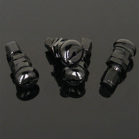Wholesale Set Bolt in Car Aluminum Black Tubeless Wheel Tire Valve Stem With Dust Cap