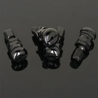 reifenventildeckel gti großhandel-Set Bolt-in Car Aluminium Black Tubeless-Radreifenventilschaft mit Staubkappe