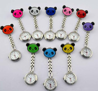 Wholesale Acrylic Price Tags - Nurse table panda watches Hang Nurse Pocket Watch 100% new Styles Free shipping Factory price 10color for choice DHL free shipping best2011
