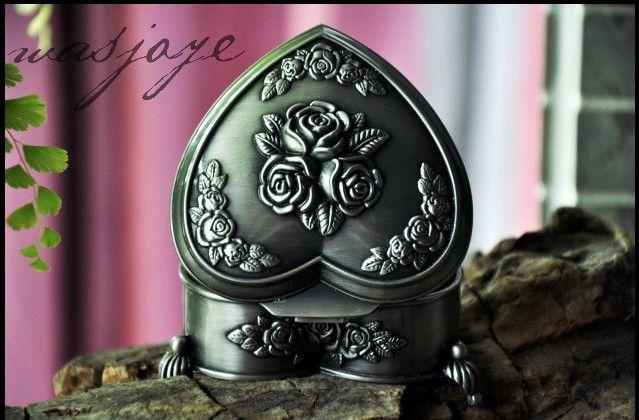 Nouvelle boîte à bijoux de bijoux de mariage de la sculpture de la sculpture de mariée