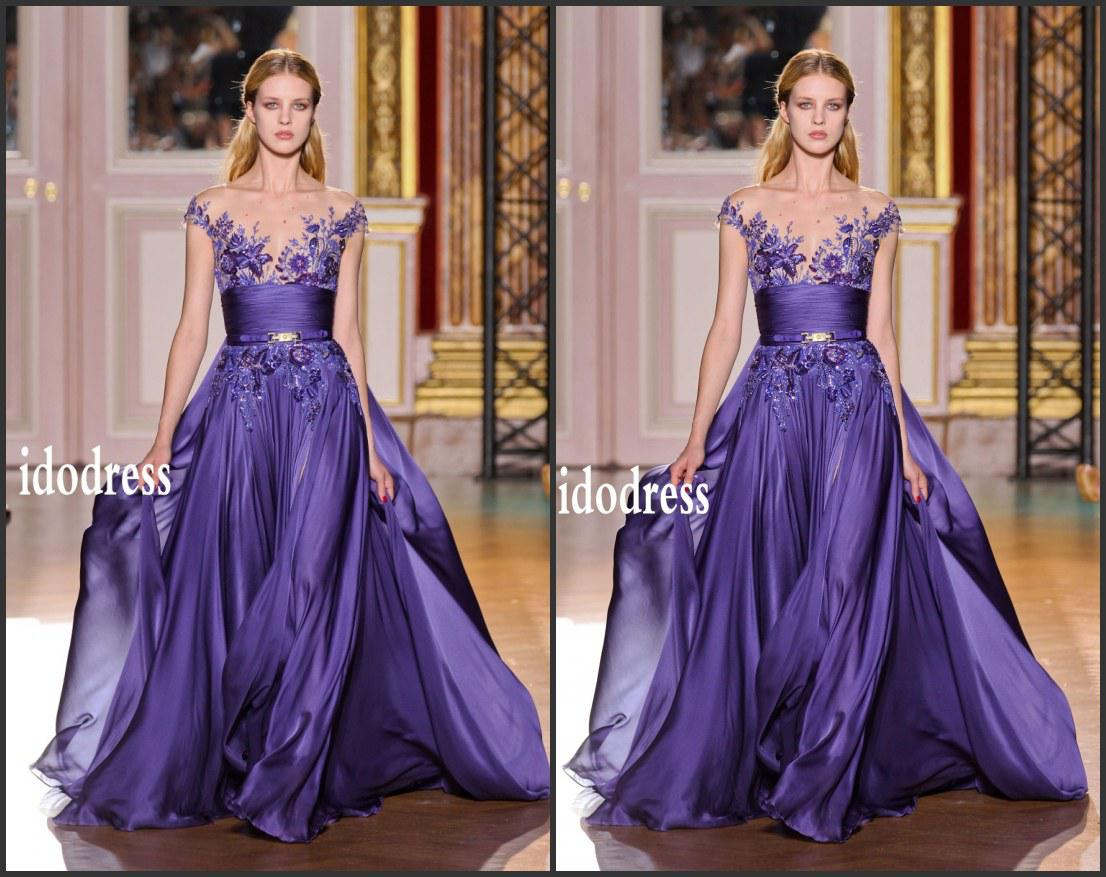 Ball gown prom dresses 2014 - Sexy V Neck Ball Gown Prom Dresses 2014 New Arrival Chiffon Embroidery Applique Beads Ruffle Evening Gowns Yk 8a67 Prom Gows Evening Dress Dresses Online