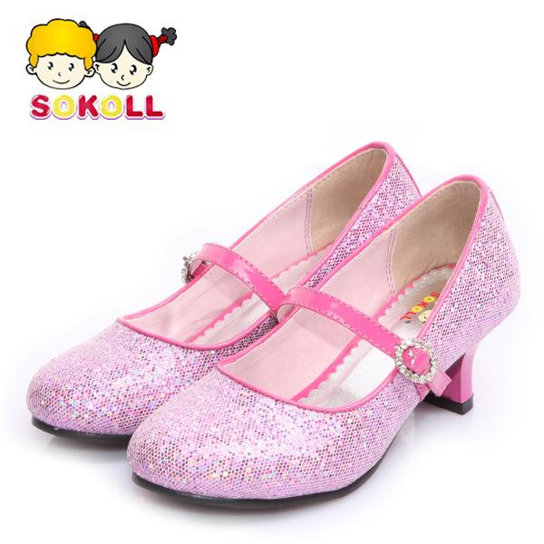 Free/Drop Shipping High Heel Girls Shiny Glitter Bridal Princess ...