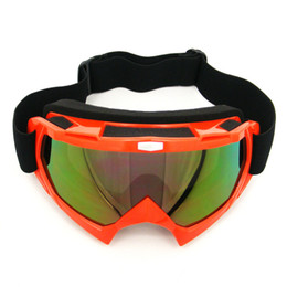 Wholesale Auto Country - RED Motorcycle Motocross Bike Cross Country Flexible Goggles Tinted lens moto goggles bike bicycle goggle car truck auto goggles