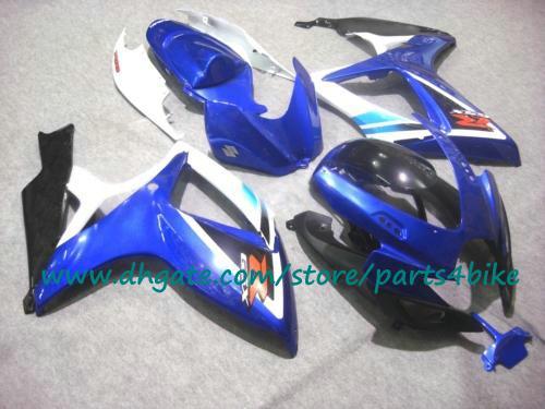 Carenature 2006 2007 SUZUKI K6 GSXR 600 GSXR 750 carrozzeria blu / bianca / nera GSX-R600 / 750 06 07 carenatura con 7 regali