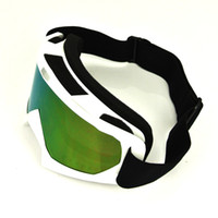Wholesale Tinted Motorcycle Goggles - WHITE Flexible Goggles Tinted UV Motorcycle Motocross Bike Cross Country GOGGLES