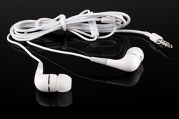 Wholesale Earphones For Iphone5 White - White In-Ear Earbud for Iphone 5 Earphone Headphone Wth MIC Eeabuds For Iphone5 iPad 2 3 4 Mp3 Mp4 Headset