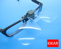 Wholesale Power Magnifying Glass - KIKAR Clip-and-Flip Optical Magnifying Lens 2x Power +4.00 Diopters Magnifier Loupe Handsfree Eyeglass Fly Fishing Tying Kit Low Vision Eyes