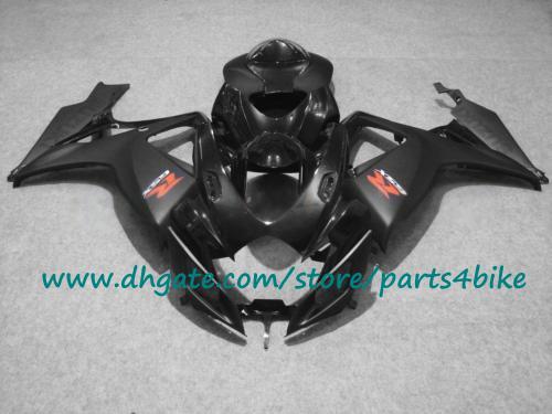 Inyección negro personalizar carenados de la motocicleta 2006 2007 K6 GSXR 600 GSXR 750 ABS juego de carenado 06 07 GSXR600 GSXR750 SUZUKI con 7 regalos