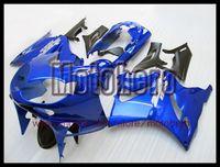 Wholesale High Quality Fairing Body Kit - high quality blue black body for ZZR1200 02 03 2002 2003 02-03 ZZR 1200 ZZR-1200 ABS fairing kit E8009