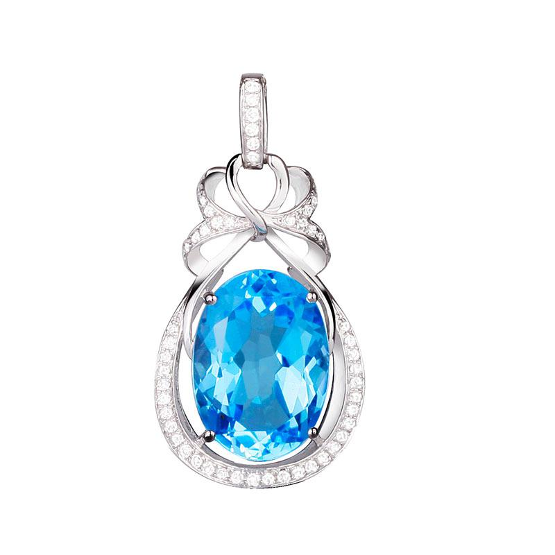 Wholesale weitabeila natural top blue topaz pendant 9k gold wholesale weitabeila natural top blue topaz pendant 9k gold crystal diamond necklace female models group coin pendant necklace anchor pendant necklace from mozeypictures Images