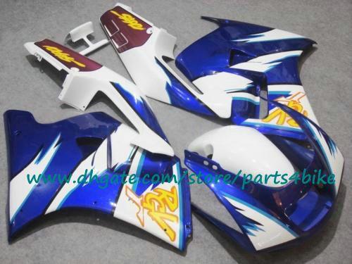 Бесплатная доставка белый синий ABS обтекатели комплект для SUZUKI 91 92 93 94 95 96 RGV 250 RGV250 1991-1996 гонки мотоцикл обтекатель с 7 подарки