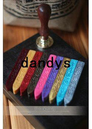 Wholesale Wholesale Wax Seal Stamps - Sealing wax wax strip of sealing wax stamp dedicated imprint multicolor Free shipping