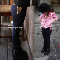 Wholesale Dandys Leggings - Wholesale - Children jeans,kids denim clothing girls sequins stretch jeans , 5pcs lot, dandys