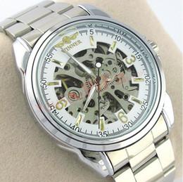 Wholesale Classic Watch Mechanical Woman - fashion winner brand women clock hollow classic fashion Stainless autonatic female self-wind mechanical wrist watch