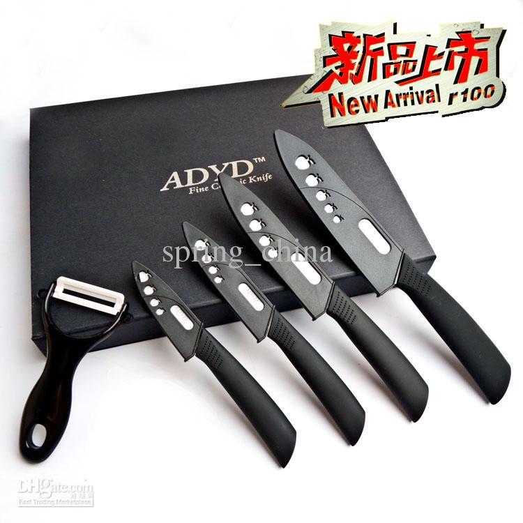 ceramic knife set kitchen knife 3+ 4+ 5+ 6 knives + peeler gift