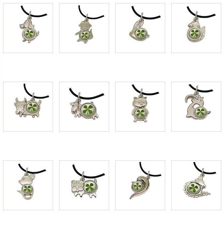 Clover necklace korean zodiac rat ox tiger rabbit snakes horse see larger image mozeypictures Gallery