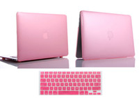 Wholesale Crystal Laptop Cases Apple - Pink Crystal Transparent Clear Skin Hard Case Cover + Silicone Kayboard Skin For Apple Macbook Pro 13""