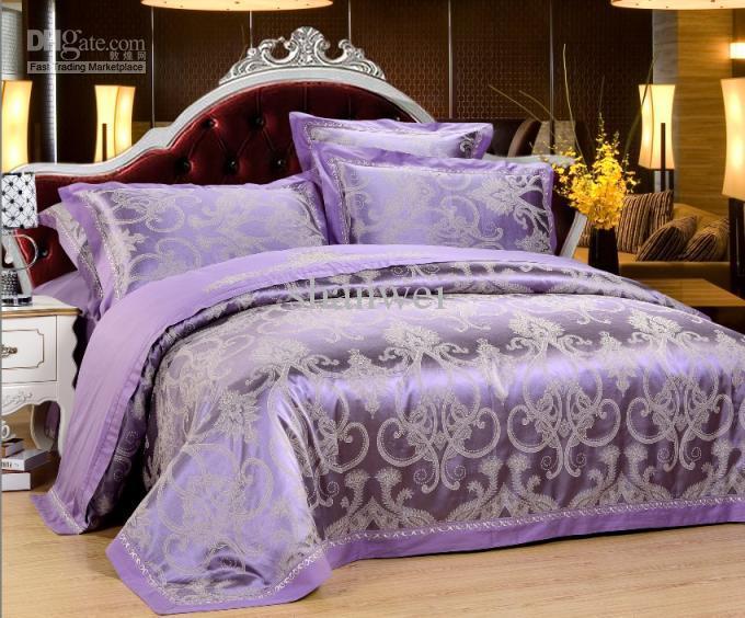 Bedroom Sets Purple satin comforter set. dada bedding quinceanera 5piece victorian