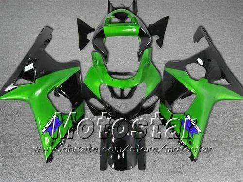 Bodykit de carénage sur mesure avec 7 leviers pour SUZUKI GSXR 1000 K2 2000 2001 2002 GSXR1000 00 01 02 R1000 Kit carénages vert noir cc2