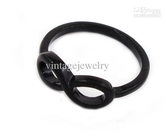 Infinity symbol 8 words ring fashion wild alloy rings jewelry LY-J009