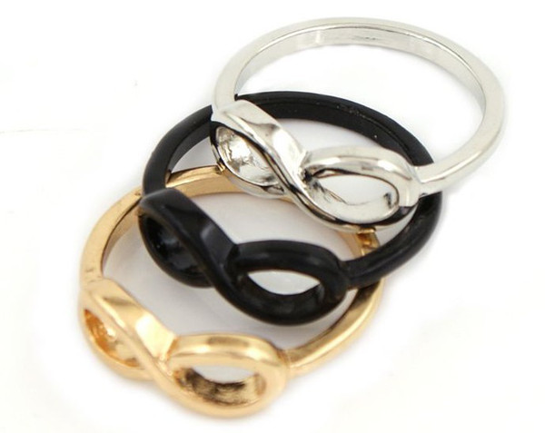 Infinity symbol 8 words ring fashion wild alloy rings jewelry free shipping LY-J009