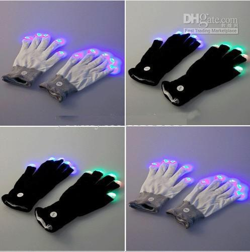 2015 nuovo Halloween natale vendita calda LED guanti flash Ballando guanti glow Concerto guanti nottilucenti Regali flash