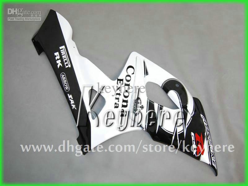 Gratis 7 geschenken Custom ABS Fairing Kit voor Suzuki GSXR 1000 2005 2006 GSX R 1000 05 06 K5 BIJGELIJKHEID G3K Corona White Black Body Motorcycle Onderdelen