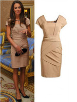 Wholesale Dress British Princess Kate - British princess Kate OL commuter cultivate Party Evening dress casual dress Free Shipping