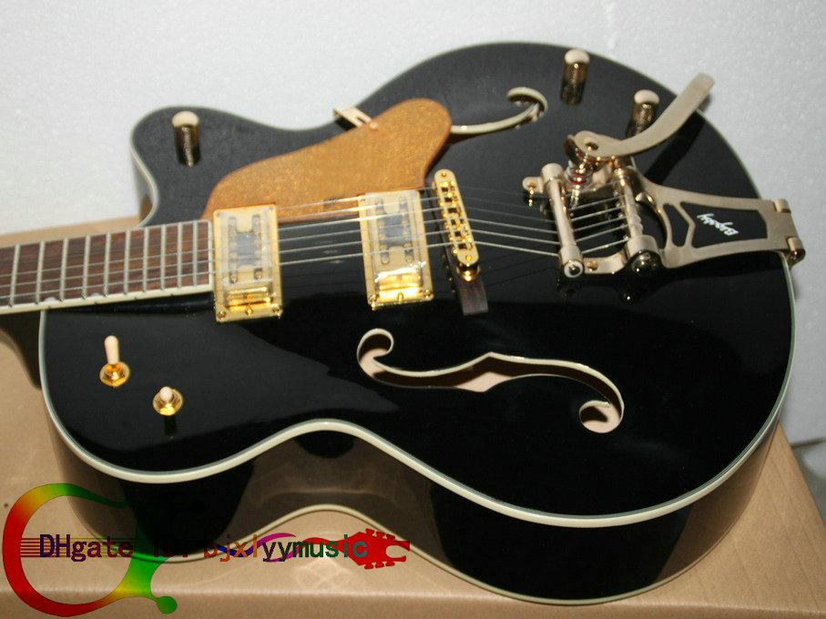 custom hollow body jazz guitars black 6120 electric guitar withbigbys jazz guitar high cheap. Black Bedroom Furniture Sets. Home Design Ideas