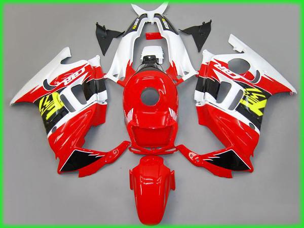 Hig quality Red yellow white Fairing kit for honda CBR600 F3 95 96 CBR600 1995 1996 CBR 600 F3 aftermarket fairings