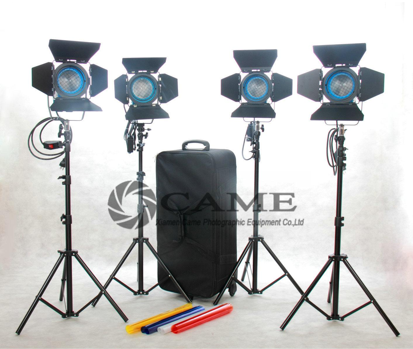 2018 4x650w Fresnel Tungsten Lights Kit Video Continuous Lighting ...