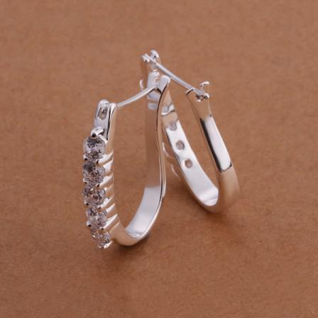 Il prezzo di fabbrica 925 di alta qualità 925 ha intarsiato i monili classici di modo degli orecchini di cristallo del cristallo di rocca il trasporto libero /